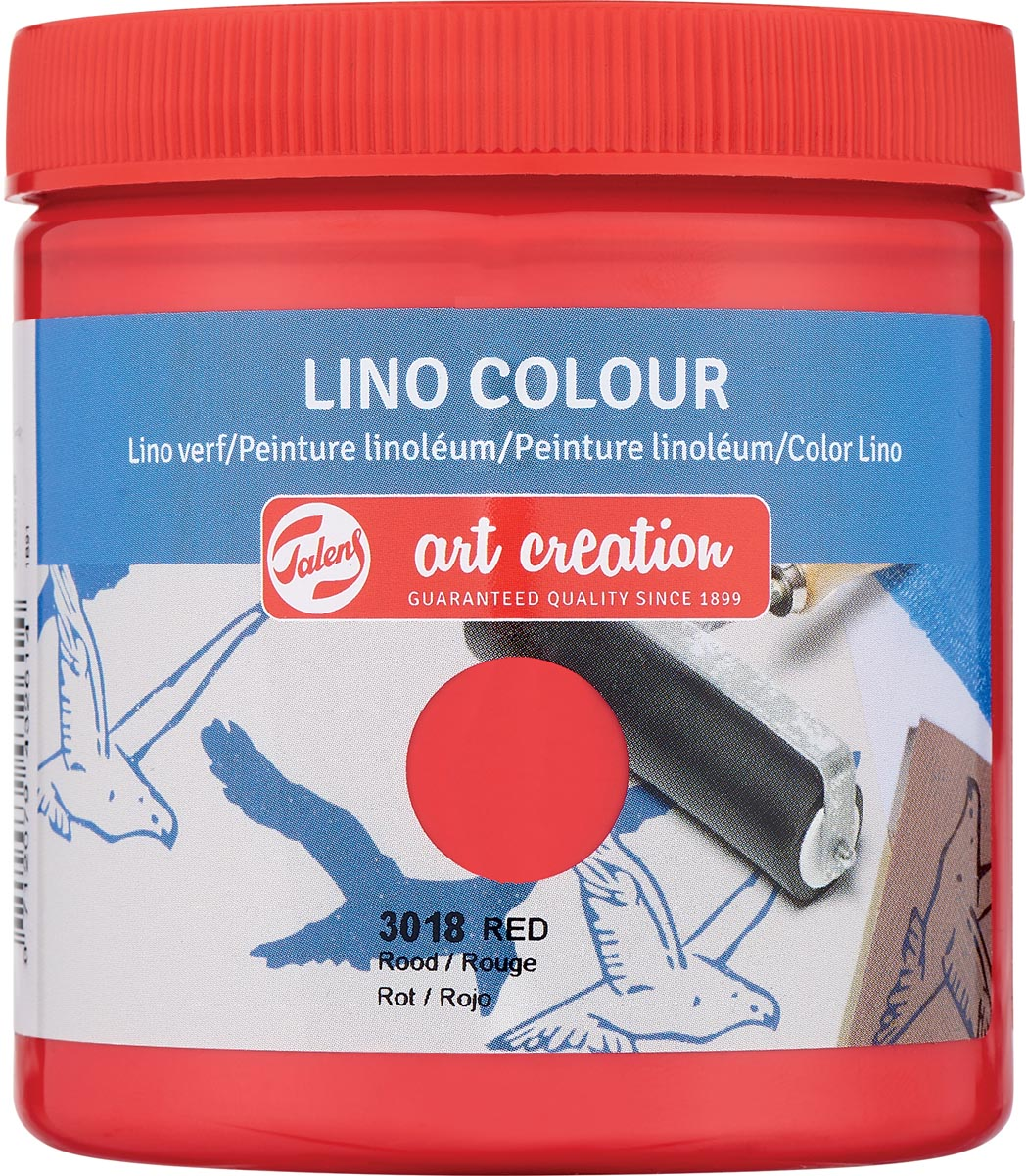 Talens Art Creation lino verf, rood