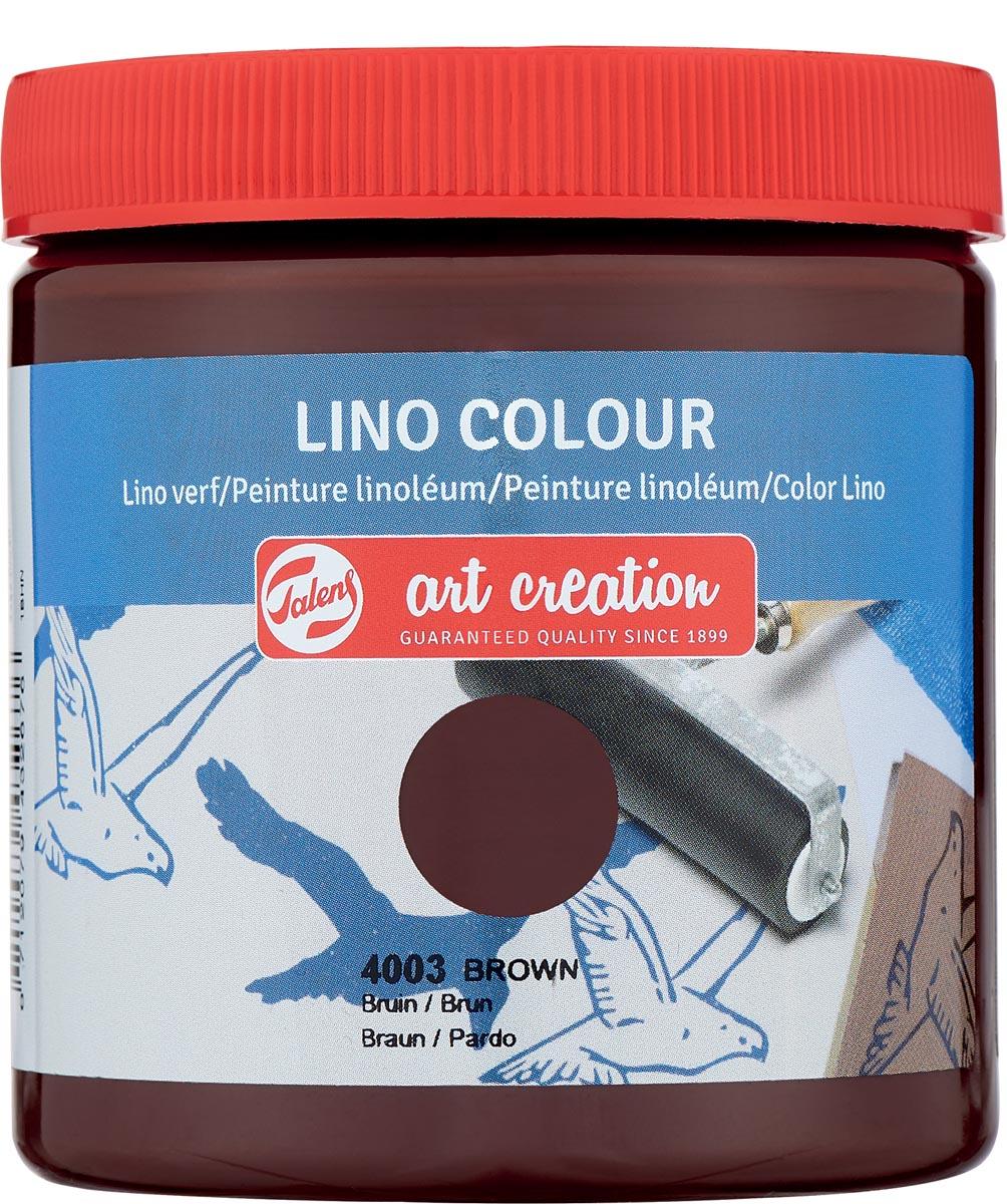 Talens Art Creation lino verf, bruin