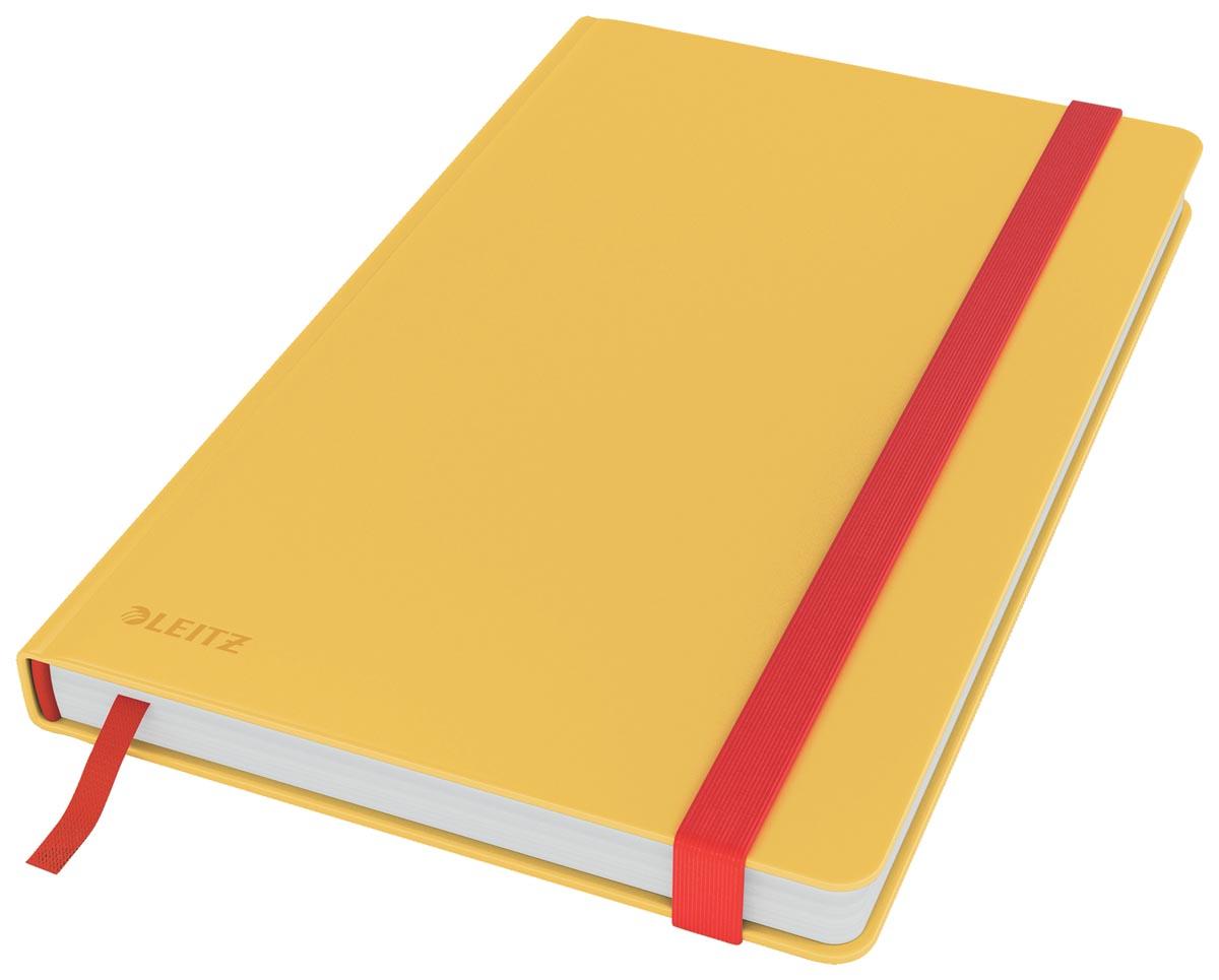 Leitz Cosy notitieboek met harde kaft, voor ft A5, geruit, geel