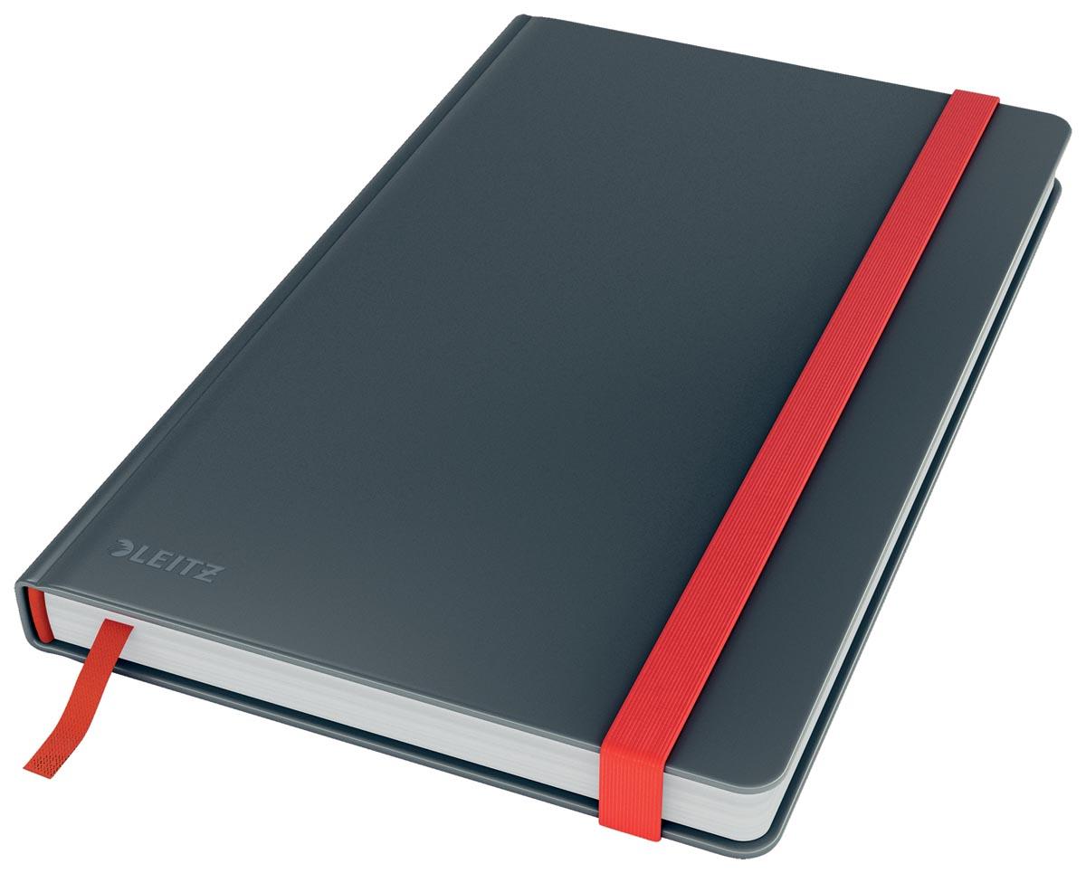 Leitz Cosy notitieboek met harde kaft, voor ft A5, geruit, grijs
