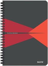 Leitz Office notitieboek, ft A5, geruit 5 mm, rood