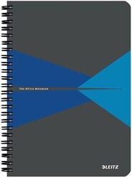 Leitz Office notitieboek, ft A5, geruit 5 mm, blauw