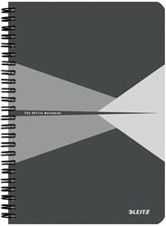 Leitz Office notitieboek, ft A5, geruit 5 mm, grijs