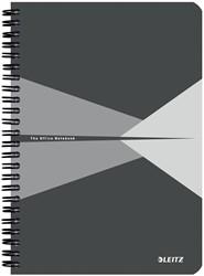 Leitz Office notitieboek, ft A5, gelijnd, grijs
