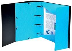 Exacompta elastomap Punchy, 3 geperforeerde kleppen, uit glanskarton, blauw