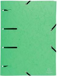 Exacompta elastomap Punchy, 3 geperforeerde kleppen, uit glanskarton, anijsgroen