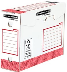 Bankers Box basic archiefdoos heavy duty, ft 9,5 x 24,5 x 33 cm, rood, pak van 20 stuks
