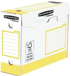 Bankers Box basic archiefdoos heavy duty, ft 9,5 x 24,5 x 33 cm, geel, pak van 20 stuks