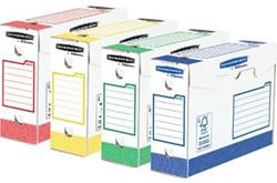 Bankers Box basic archiefdoos heavy duty, ft 9,5 x 24,5 x 33 cm,  geassorteerde kleuren