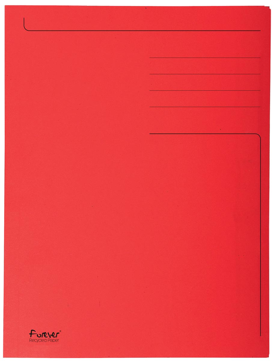 Exacompta dossiermap Foldyne ft 24 x 32 cm (voor ft A4), rood, doos van 50 stuks