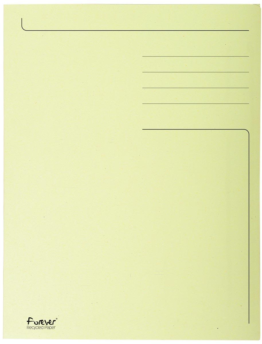 Exacompta dossiermap Foldyne ft 24 x 32 cm (voor ft A4), geel, doos van 50 stuks