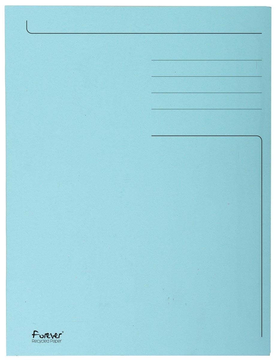 Exacompta dossiermap Foldyne ft 24 x 32 cm (voor ft A4), lichtblauw, pak van 50 stuks