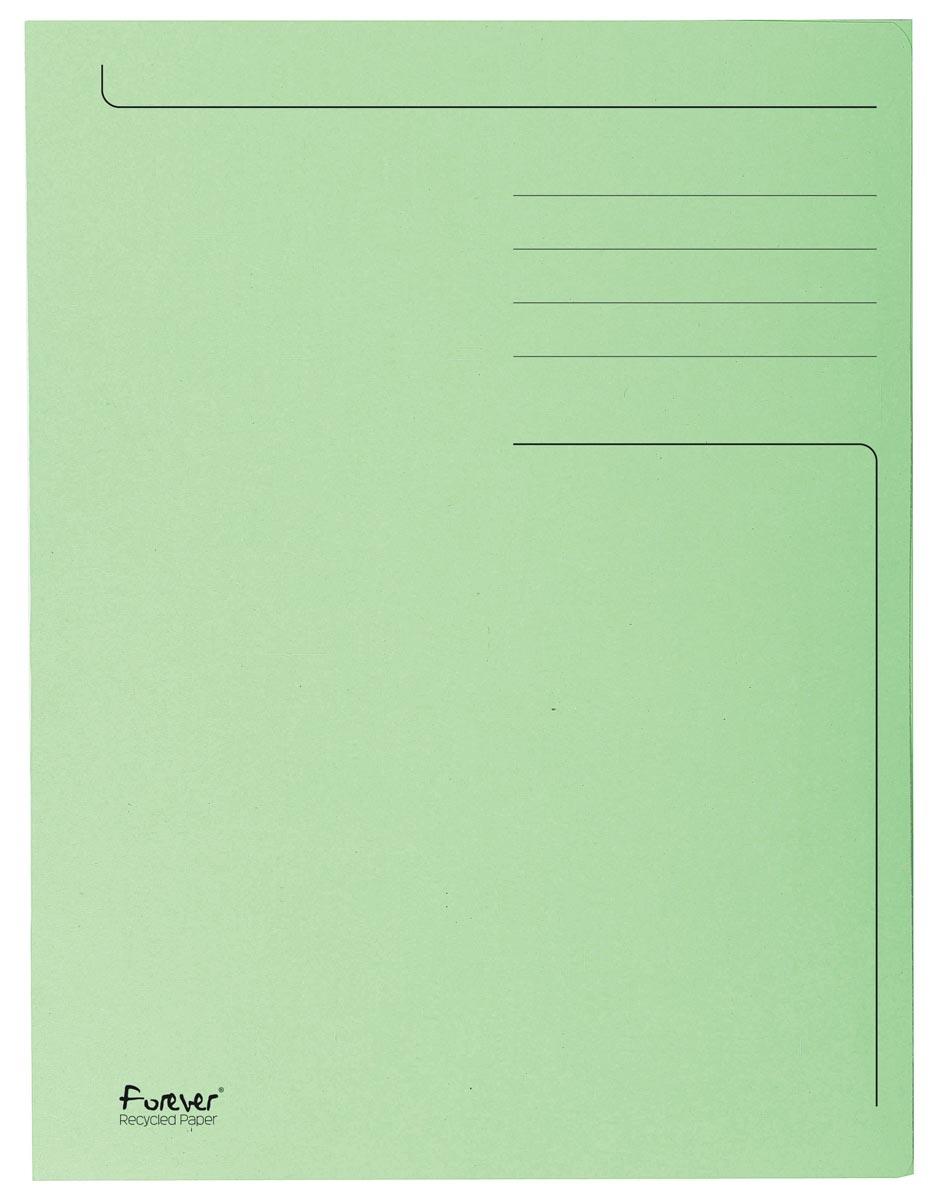 Exacompta dossiermap Foldyne ft 24 x 32 cm (voor ft A4), lichtgroen, pak van 50 stuks