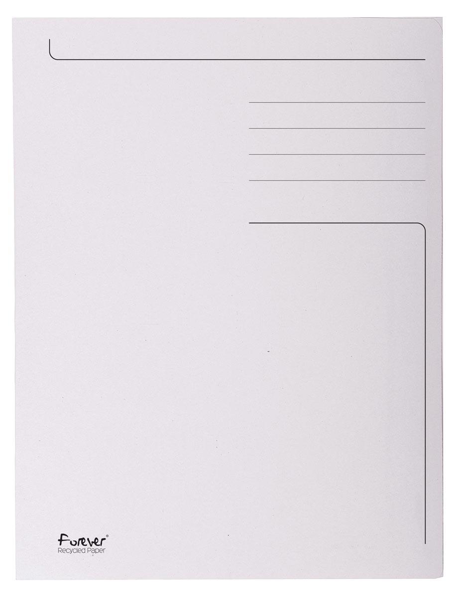 Exacompta dossiermap Foldyne ft 24 x 32 cm (voor ft A4), lichtgrijs, pak van 50 stuks