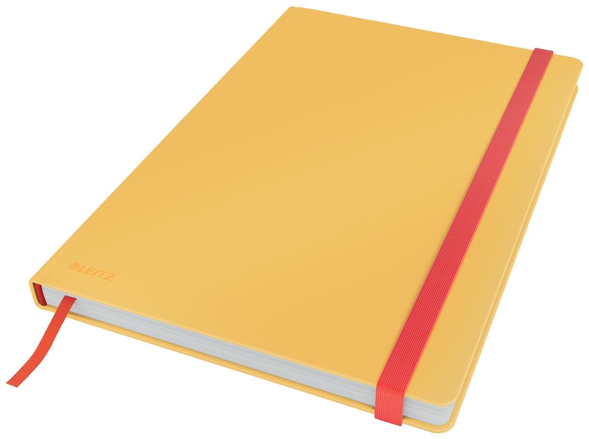 Leitz Cosy notitieboek met harde kaft, voor ft B5, geruit, geel