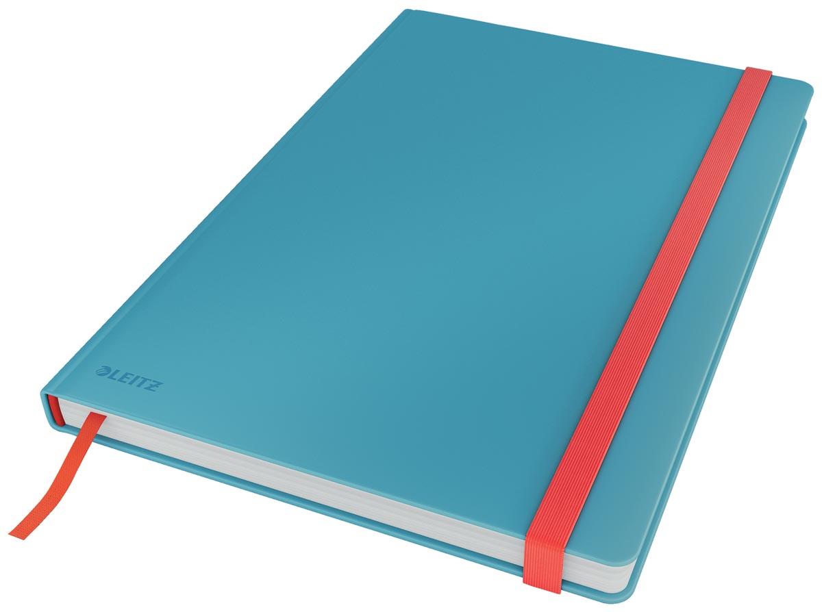 Leitz Cosy notitieboek met harde kaft, voor ft B5, geruit, blauw