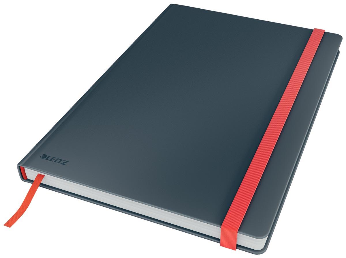 Leitz Cosy notitieboek met harde kaft, voor ft B5, geruit, grijs