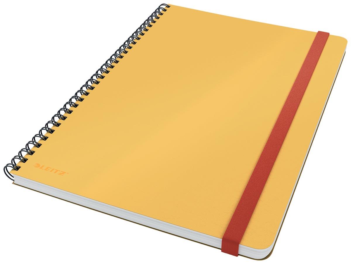 Leitz Cosy notitieboek met spiraalbinding, voor ft B5, geruit, geel