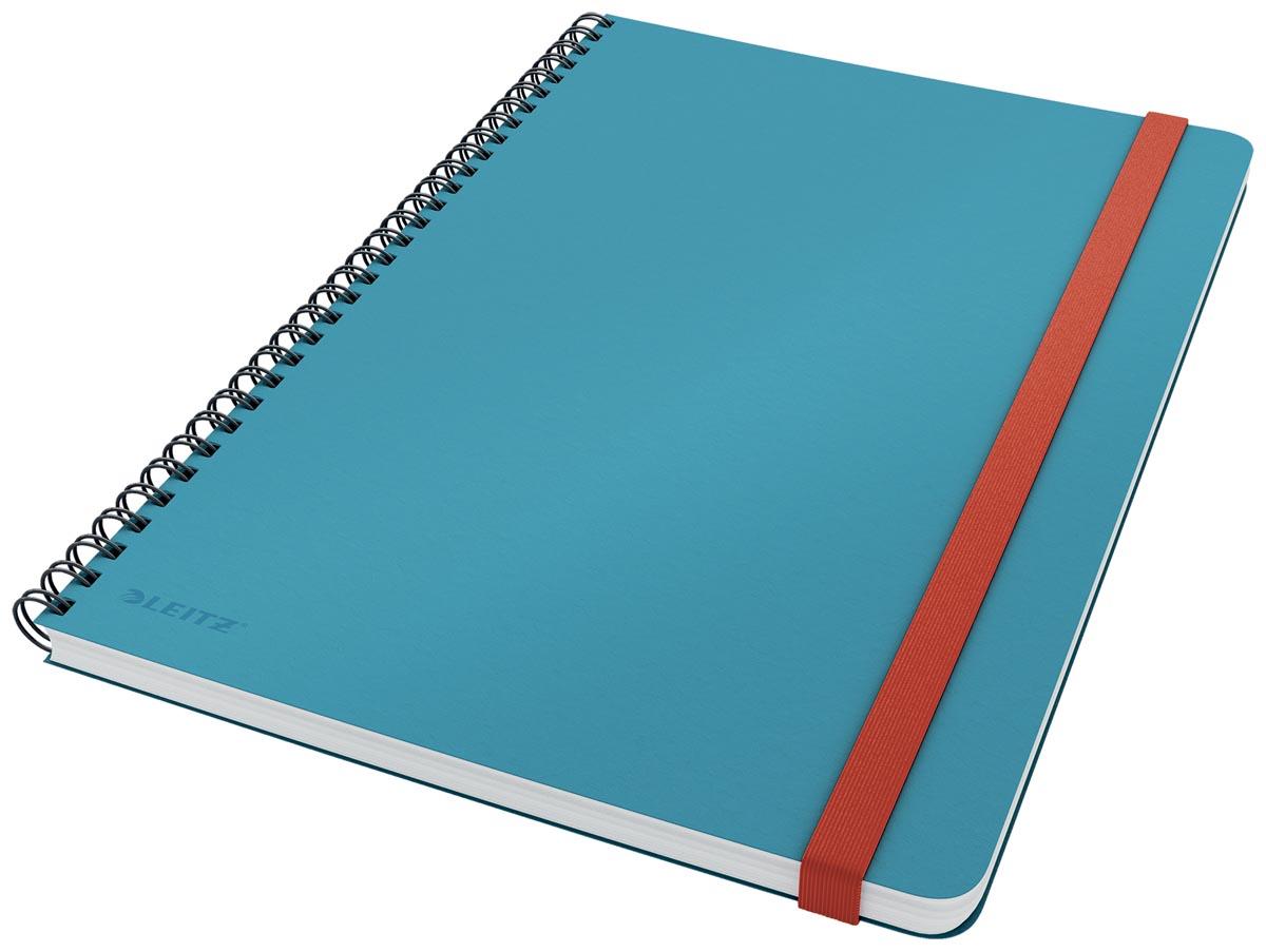Leitz Cosy notitieboek met spiraalbinding, voor ft B5, geruit, blauw