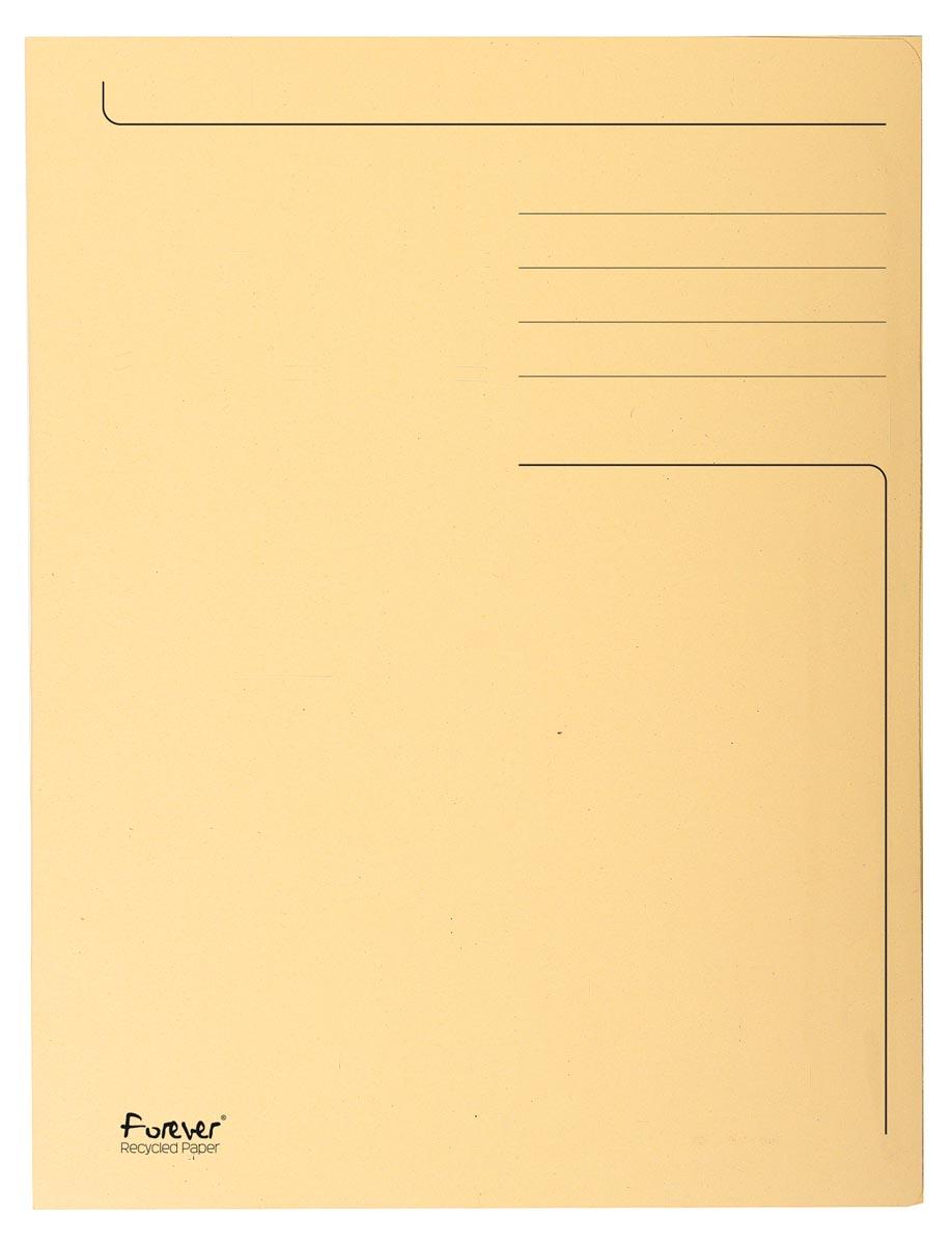 Exacompta dossiermap Foldyne ft 24 x 35 cm (voor ft folio), ivoor, pak van 50 stuks