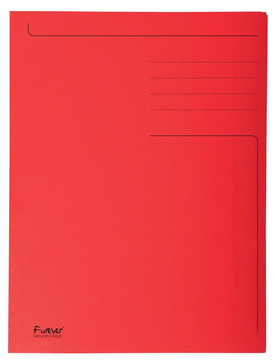 Exacompta dossiermap Foldyne ft 24 x 35 cm (voor ft folio), rood, pak van 50 stuks