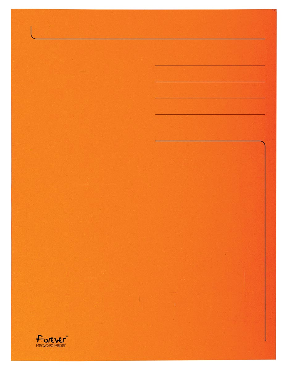 Exacompta dossiermap Foldyne ft 24 x 35 cm (voor ft folio), oranje, pak van 50 stuks