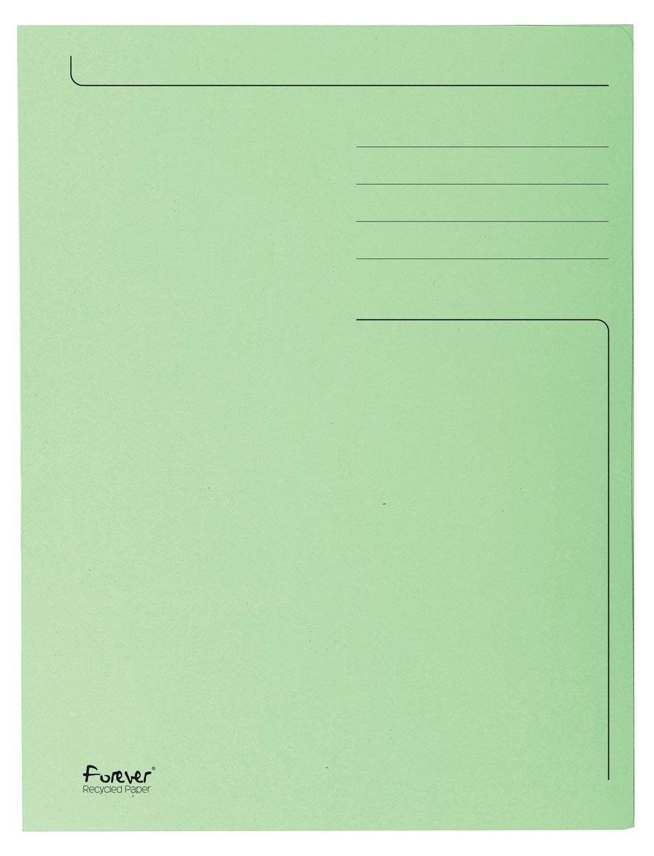 Exacompta dossiermap Foldyne ft 23,7 x 34,7 cm (voor ft folio), lichtgroen, doos van 50 stuks