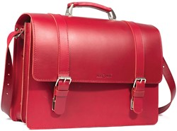 Atoma PUR boekentas, rood, leder