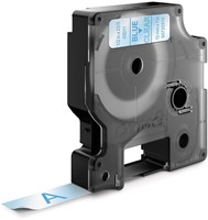 Dymo D1 tape 12 mm, blauw op transparant-2