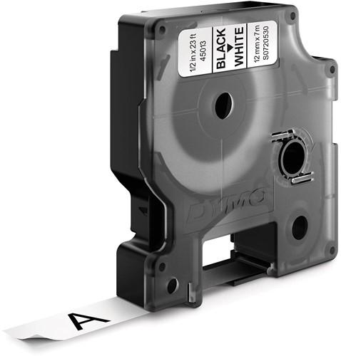 Dymo D1 tape 12 mm, zwart op wit-2