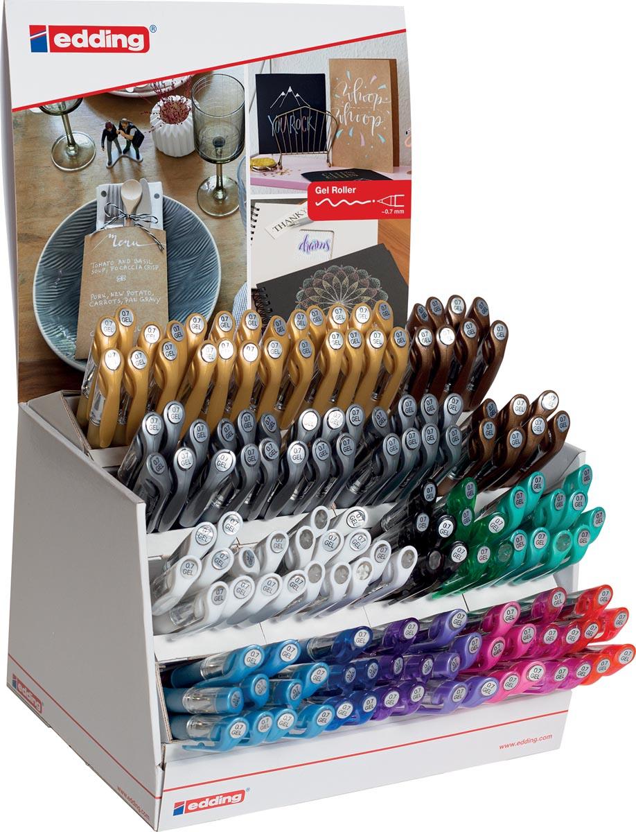Edding Crystaljelly gelroller e-2185 display met 145 stuks in geassorteerde kleuren