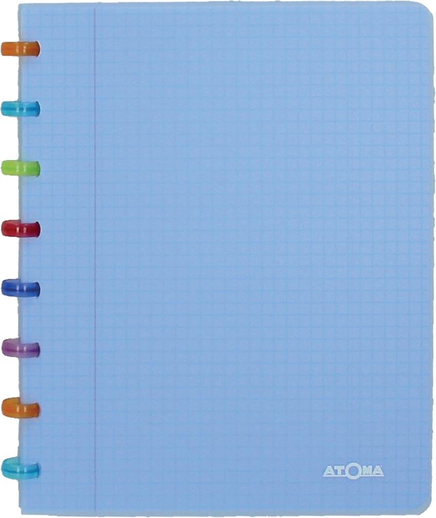 Atoma schrift Tutti Frutti ft A5, gelijnd, transparant blauw