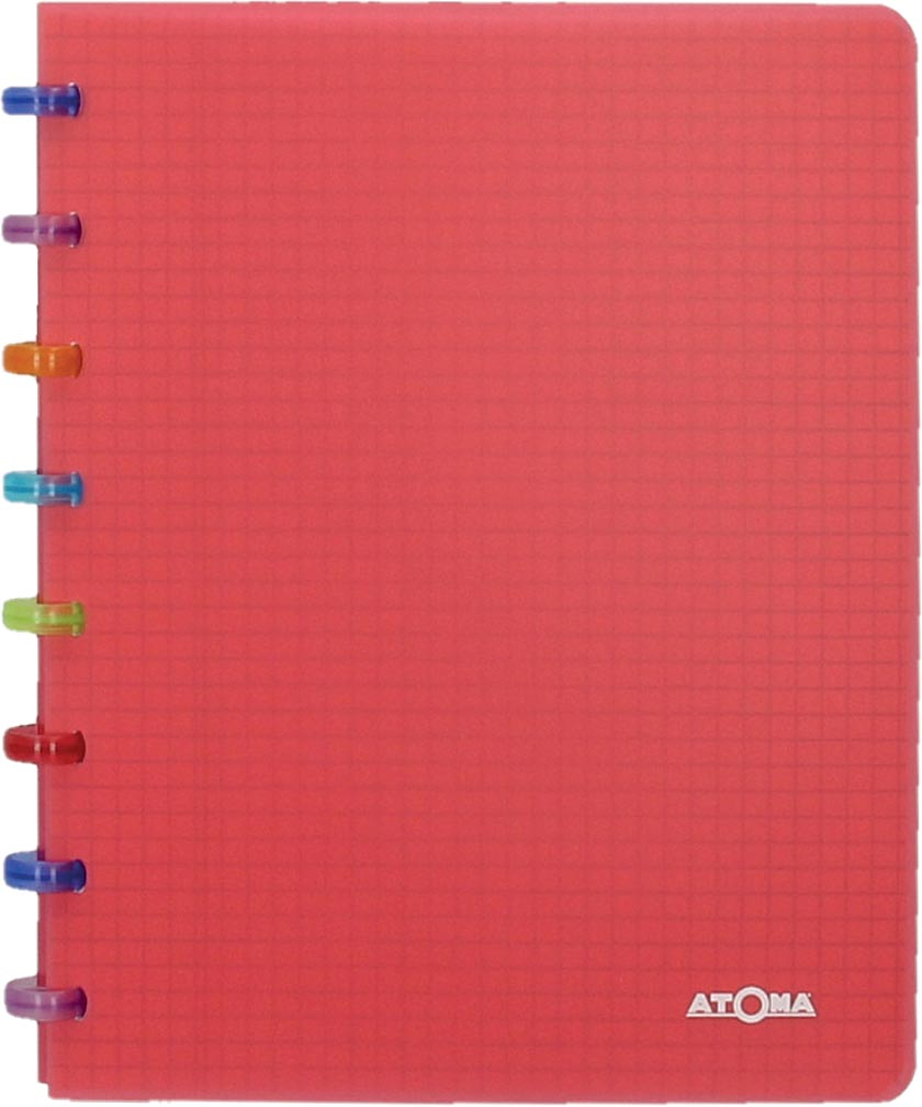 Atoma schrift Tutti Frutti ft A5, commercieel geruit, transparant rood