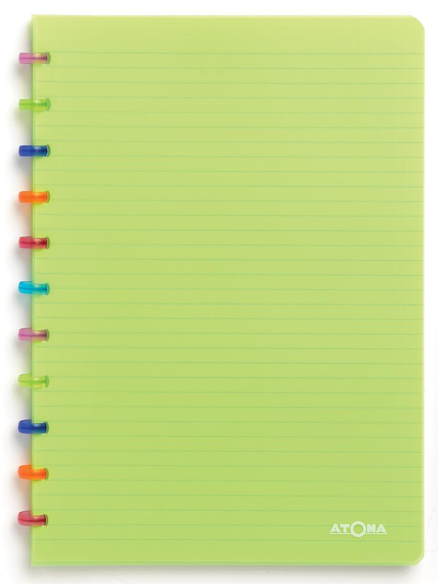 Atoma schrift Tutti Frutti ft A4, geruit 5 mm, transparant groen
