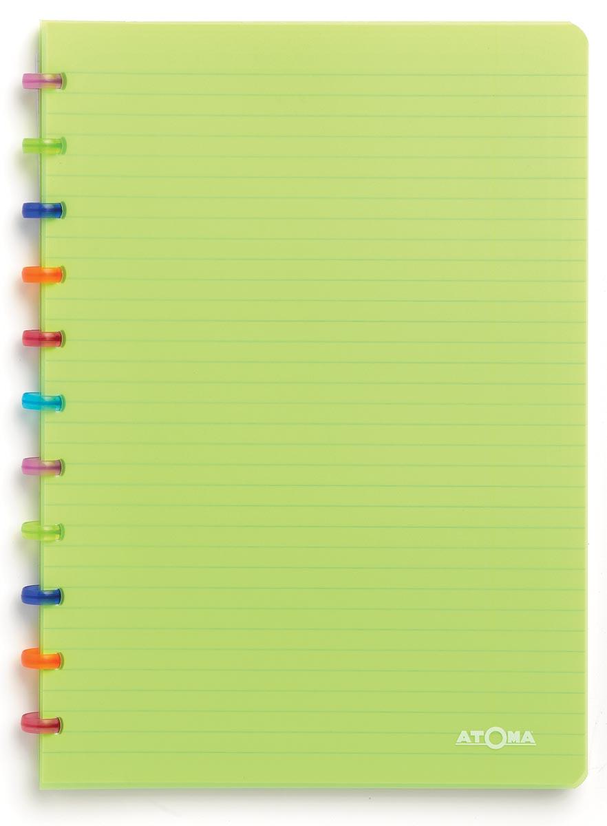 Atoma schrift Tutti Frutti ft A4, commercieel geruit, transparant groen