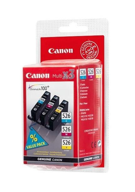 Canon inktcartridge CLI-526, 450-520 pagina's, OEM 4541B012, met beveiligingsysteem, 3 kleuren