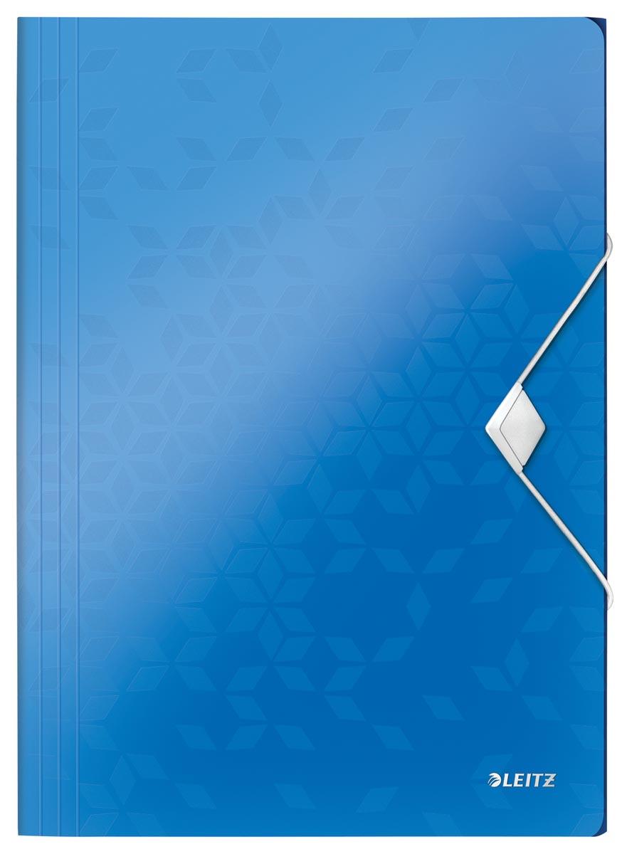 Leitz WOW elastomap met 3 kleppen, uit PP, ft A4, blauw