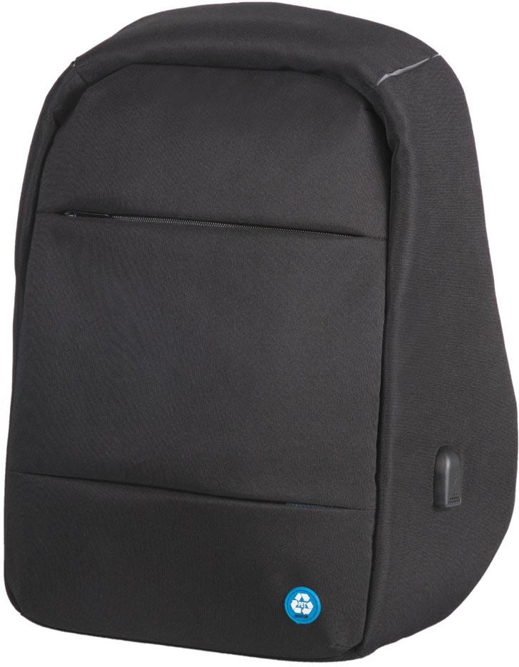 Lightpak by Jüscha rugzak RPET, voor laptops tot 15,6 inch, zwart