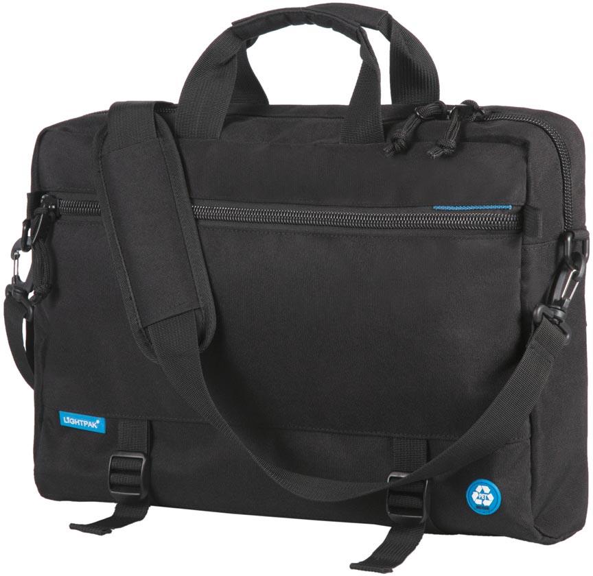Lightpak by Jüscha multifunctionele 3-in-1 laptoptas RPET, voor laptops tot 15,6 inch, zwart