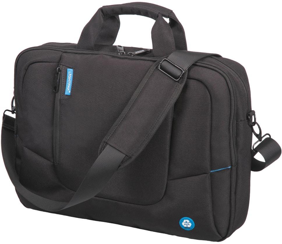 Lightpak by Jüscha laptoptas RPET, voor laptops tot 17 inch, zwart