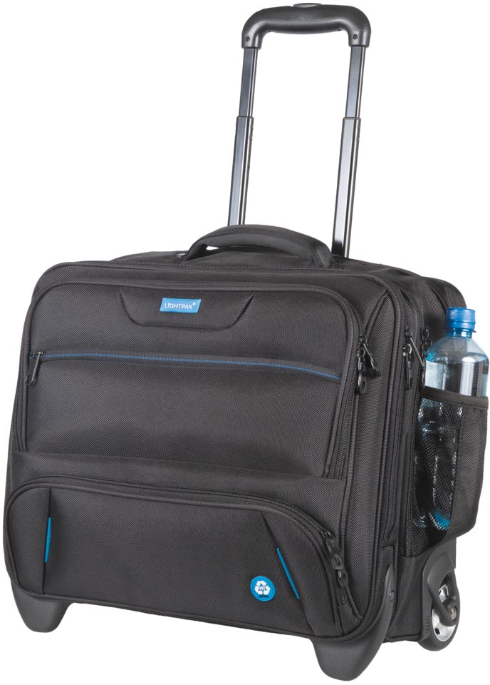 Lightpak by Jüscha Business Laptop trolley RPET, voor laptops tot 17 inch, zwart