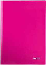 Leitz WOW notitieboek, ft A4, geruit 5 mm, roze