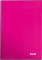 Leitz WOW notitieboek, ft A4, geruit 5 mm, roze