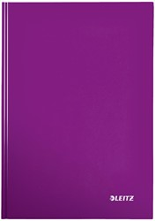 Leitz WOW notitieboek, ft A4, geruit 5 mm, paars