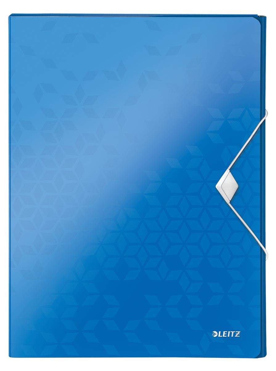 Leitz WOW elastobox ft A4, blauw