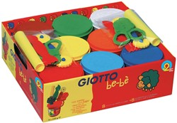 Giotto be-bè boetseerpasta + accessoires, schoolpack met 8 x 220 g