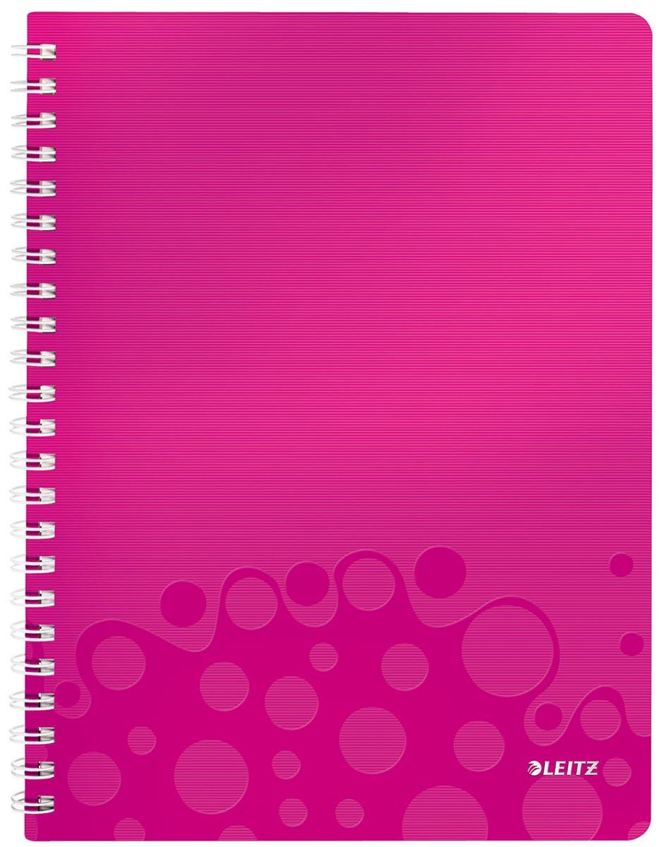 Leitz WOW schrift ft A4, gelijnd, roze