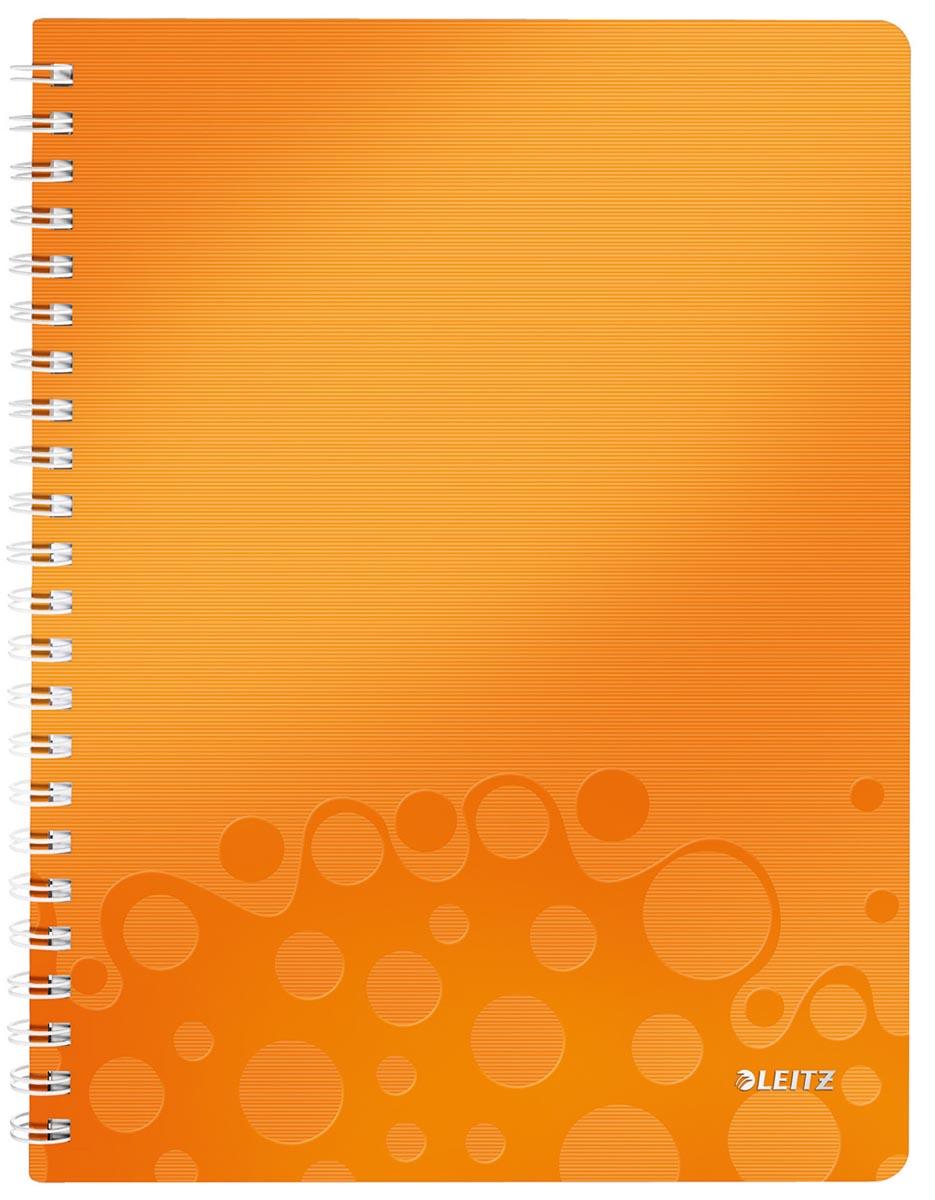 Leitz WOW schrift ft A4, gelijnd, oranje