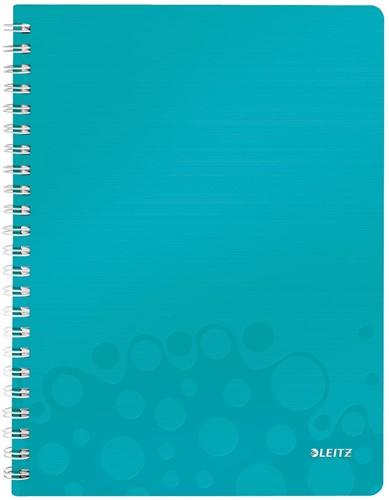Leitz WOW schrift ft A4, gelijnd, ijsblauw