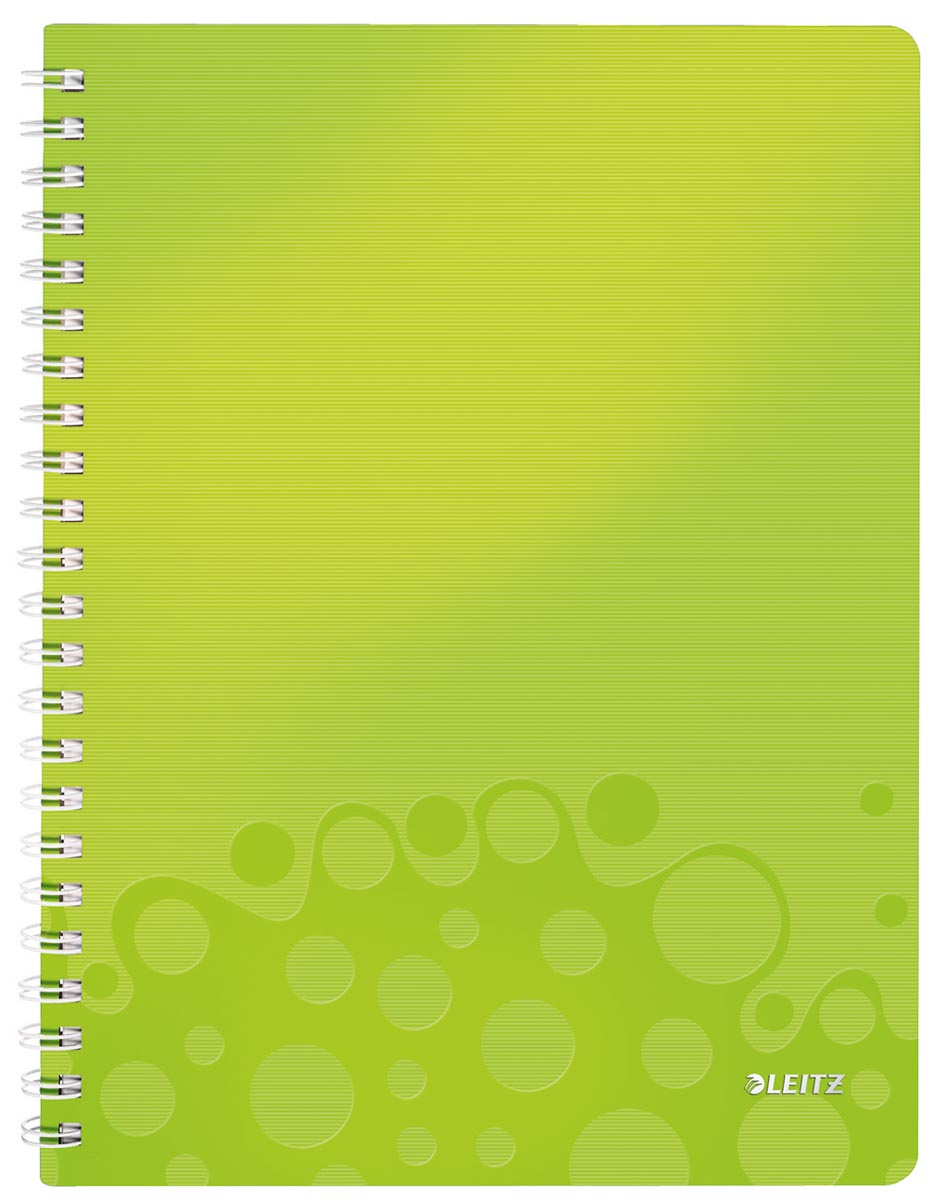 Leitz WOW schrift ft A4, gelijnd, groen